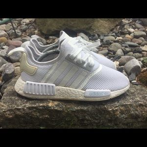 "Adidas NMD R1 ""Triple White"" size 7.5"